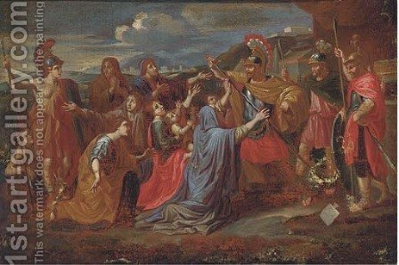 The Family of Darius before Alexander by (after) Nicolas Poussin - Reproduction Oil Painting