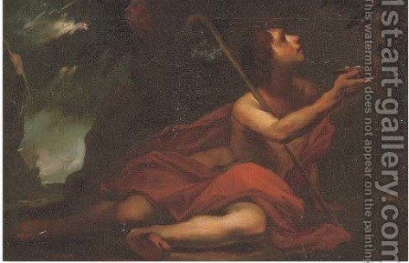 Saint John the Baptist by (after) Pier Francesco Mola - Reproduction Oil Painting