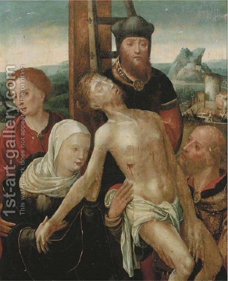 The Lamentation 2 by (after) Pieter Coecke Van Aelst - Reproduction Oil Painting