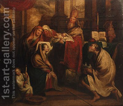 The Presentation in the Temple by (after) Pieter Van Lint - Reproduction Oil Painting