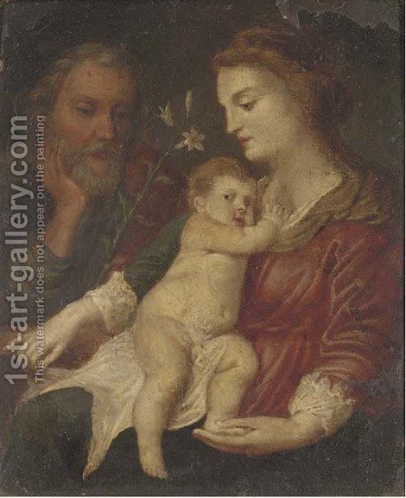 The Holy Family by (after) Dyck, Sir Anthony van - Reproduction Oil Painting