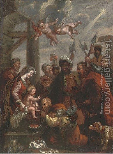 The Adoration of the Magi 7 by (after) Sir Peter Paul Rubens - Reproduction Oil Painting