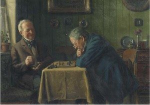 Famous paintings of Chess: Head-to-head a game of chess