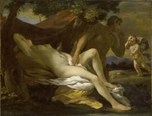 Reproduction oil paintings - Nicolas Poussin - Jupiter and Antiope