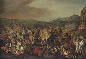 Reproduction oil paintings - Otto van Veen - Scipio fighting at the Battle of Zama