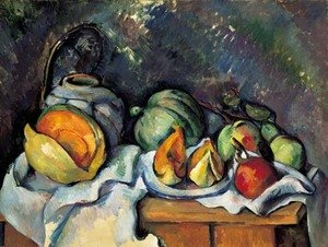 Reproduction oil paintings - Paul Cezanne - Nature morte aux fruits et pot de gingembre