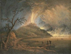 Reproduction oil paintings - Pierre-Jacques Volaire - Vesuvius erupting at night