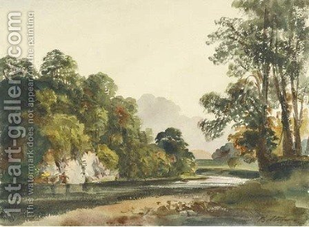Bolton River, Yorkshire by Harriet Cheney - Reproduction Oil Painting