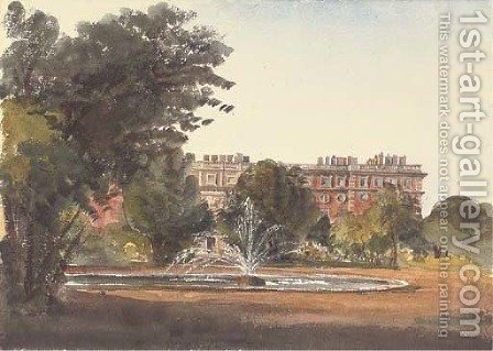 The fountain at Hampton Court Palace by Harriet Cheney - Reproduction Oil Painting