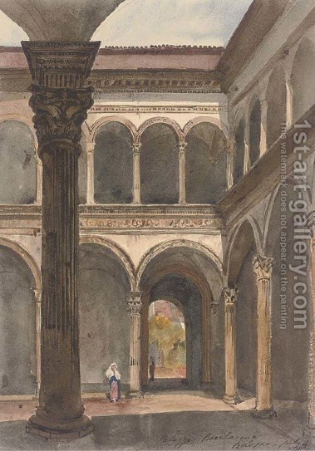 The Palazzo Bevilacqua, Bologna by Harriet Cheney - Reproduction Oil Painting