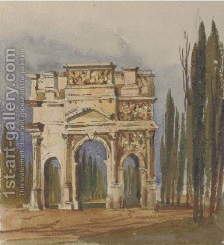 The Triumphal Arch of Orange, Avignon by Harriet Cheney - Reproduction Oil Painting