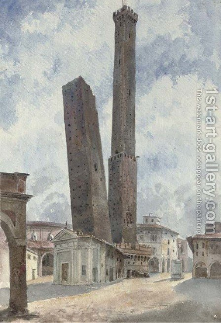 View of Bologna by Harriet Cheney - Reproduction Oil Painting