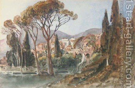 View of Tivoli by Harriet Cheney - Reproduction Oil Painting