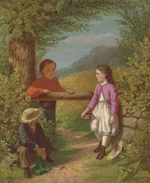 Reproduction oil paintings - Samuel S. Carr - School Days in the Country 2