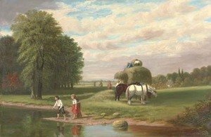 Reproduction oil paintings - Samuel S. Carr - Summer in the Country