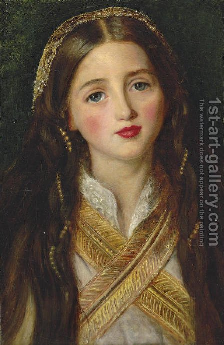 Alice Gray by Sir John Everett Millais - Reproduction Oil Painting