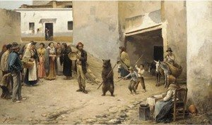Spanish School reproductions - The pedlar and the bear