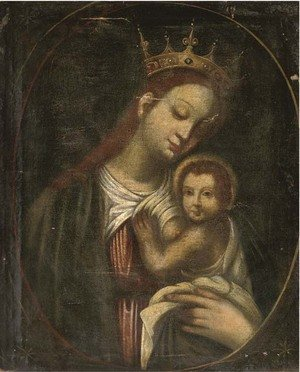 Reproduction oil paintings - Spanish School - The Madonna and Child