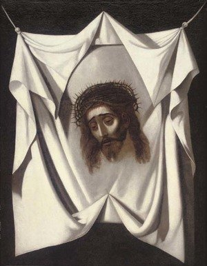 Reproduction oil paintings - Spanish School - The veil of Saint Veronica