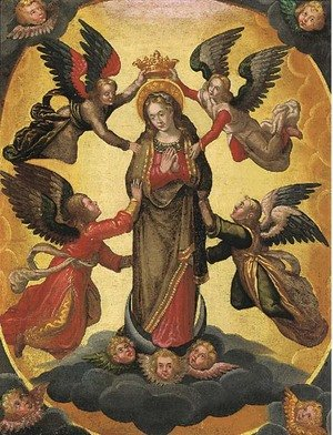 Reproduction oil paintings - Spanish School - The Virgin in Glory