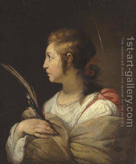 Saint Apollonia by (after) Bernardo Strozzi - Reproduction Oil Painting