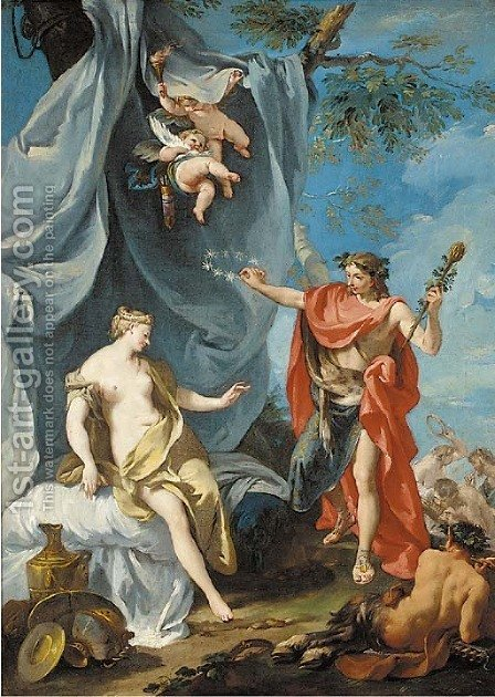 Bacchus and Ariadne by (after) Giovanni Battista The Younger Pittoni - Reproduction Oil Painting
