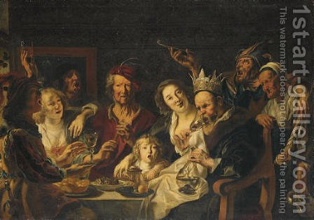 The King Drinks 2 by (after) Jacob Jordaens - Reproduction Oil Painting