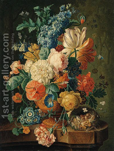 Flowers by (after) Paul Theodor Van Brussel - Reproduction Oil Painting