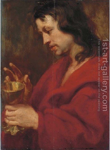 Saint John the Evangelist 2 by (after) Dyck, Sir Anthony van - Reproduction Oil Painting