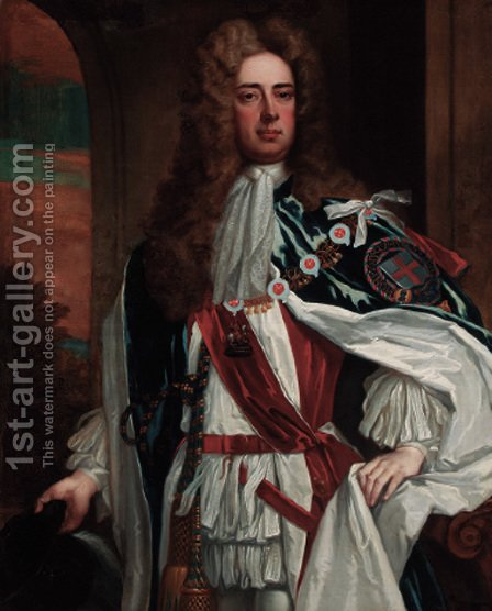 Portrait of John Churchill, 1st Duke of Marlborough (1650-1722) by (after) Kneller, Sir Godfrey - Reproduction Oil Painting