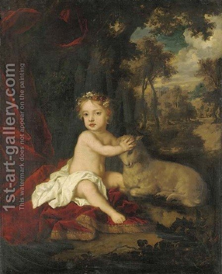 Portrait of Princess Isabella (1676-1681) by (after) Sir Peter Lely - Reproduction Oil Painting