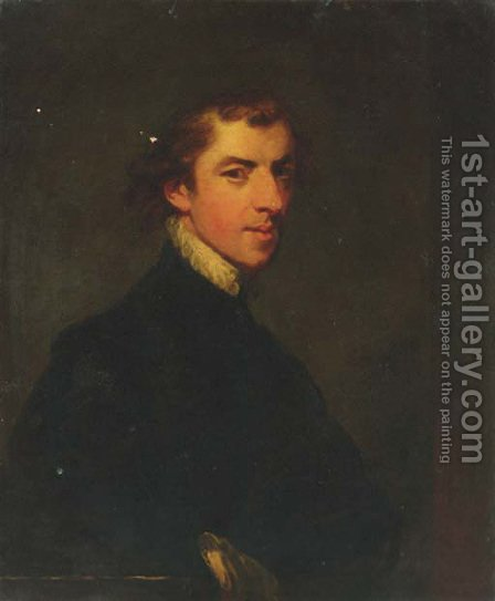 Portrait of the artist by (after) George Huddesford - Reproduction Oil Painting