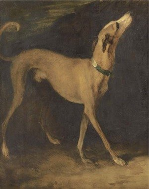 Reproduction oil paintings - Thomas Gainsborough - A greyhound in a landscape