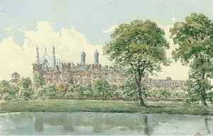 Luxmore's garden with the cloisters behind, Eton College