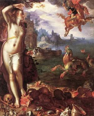 Mannerism painting reproductions: Perseus and Andromeda 1611