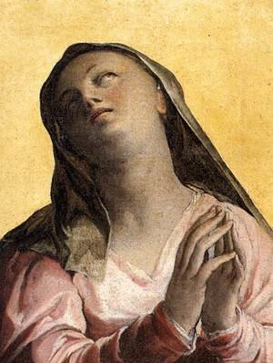 Mannerism painting reproductions: Assumption of the Virgin (detail-1) c. 1566