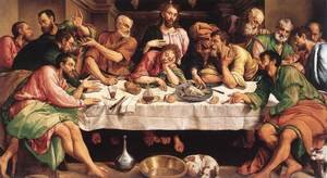 Famous paintings of Domestic Animals: The Last Supper 1542