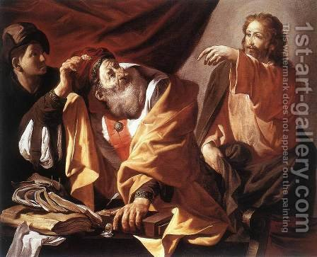 The Calling of St Matthew c. 1616 by Hendrick Terbrugghen - Reproduction Oil Painting