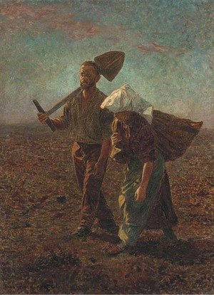 Reproduction oil paintings - Walther Firle - Homeward bound