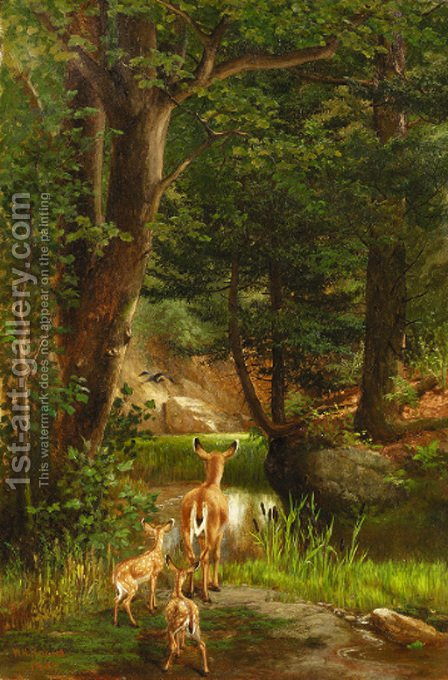 Life in the Forest by William Holbrook Beard - Reproduction Oil Painting