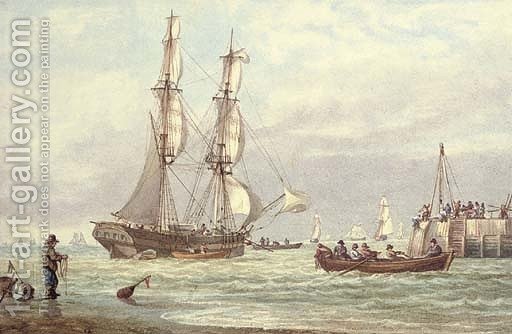 Huge version of Brig off Yarmouth Harbour, Isle of Wight