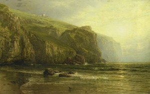 Reproduction oil paintings - William Trost Richards - Sunset Along the Coast of Cornwall