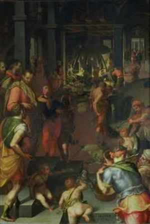 Mannerism painting reproductions: The Glassworks