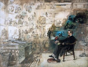 Realism painting reproductions: Dickens' Dream