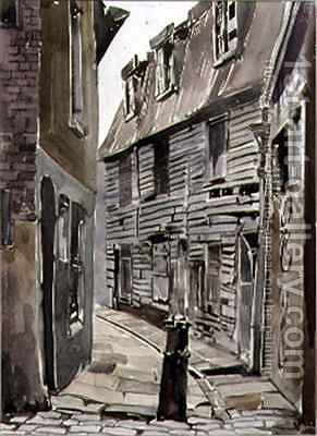 Wagstaff Buildings, Southwark by Adrian Bury - Reproduction Oil Painting