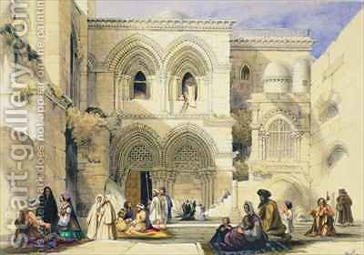 Holy Sepulchre, in Jerusalem by A. Margaretta Burr - Reproduction Oil Painting