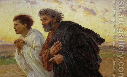The Disciples Peter and John Running to the Sepulchre on the Morning of the Resurrection