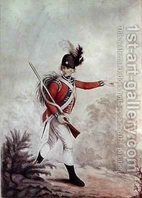 Light Infantryman by (after) Henry William Bunbury - Reproduction Oil Painting