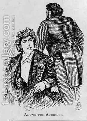 Oscar Wilde (1854-1900) Among the Audience by Alfred Gish Bryan - Reproduction Oil Painting