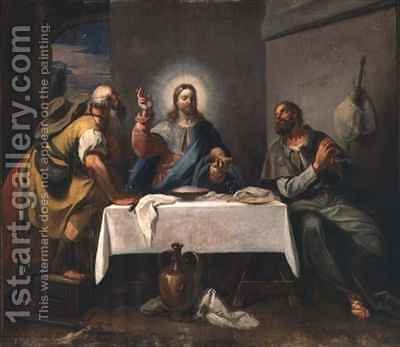 The Supper at Emmaus by Girolamo Brusaferro - Reproduction Oil Painting